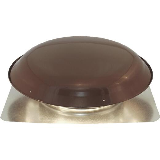 Ventamatic 1600 CFM Heavy-Duty Galvanized Steel Power Roof Mount Attic Vent Brown