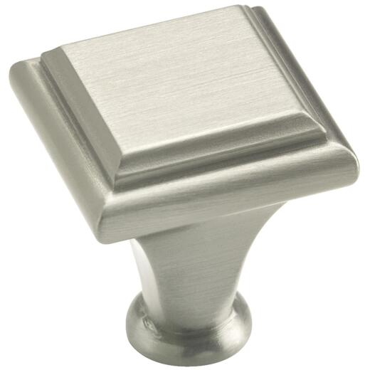 Amerock Manor Satin Nickel Square 1 In. Cabinet Knob