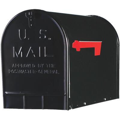Gibraltar Stanley T3 Black Steel Rural Post Mount Mailbox