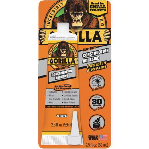Gorilla 2.5 Oz. All Surface Construction Adhesive