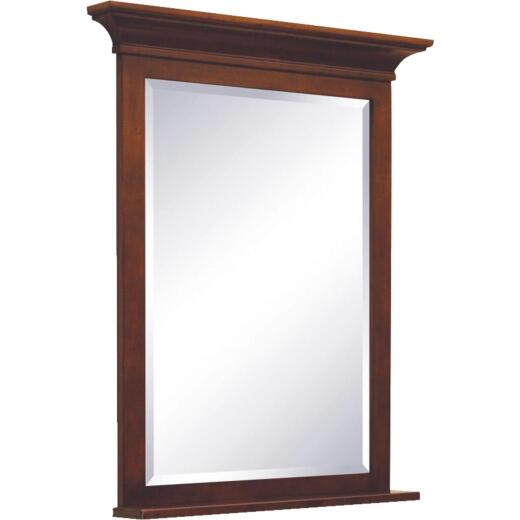 Sunny Wood Grand Haven Cherry 30 In. W x 36 In. H Vanity Mirror