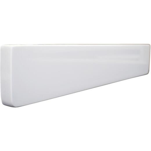 Modular Vanity Tops 4 In. H x 19 In. L Solid White Cultured Marble Side Splash, Universal