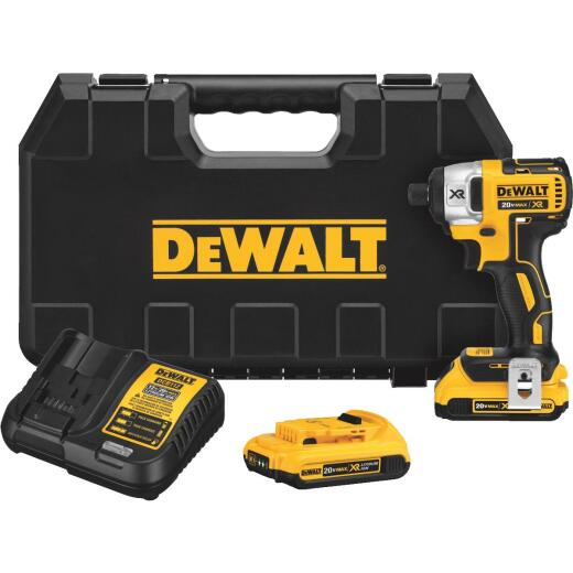 DeWalt 20 Volt MAX XR Brushless 1/4 In. Hex Lithium-Ion Cordless Impact Driver Kit