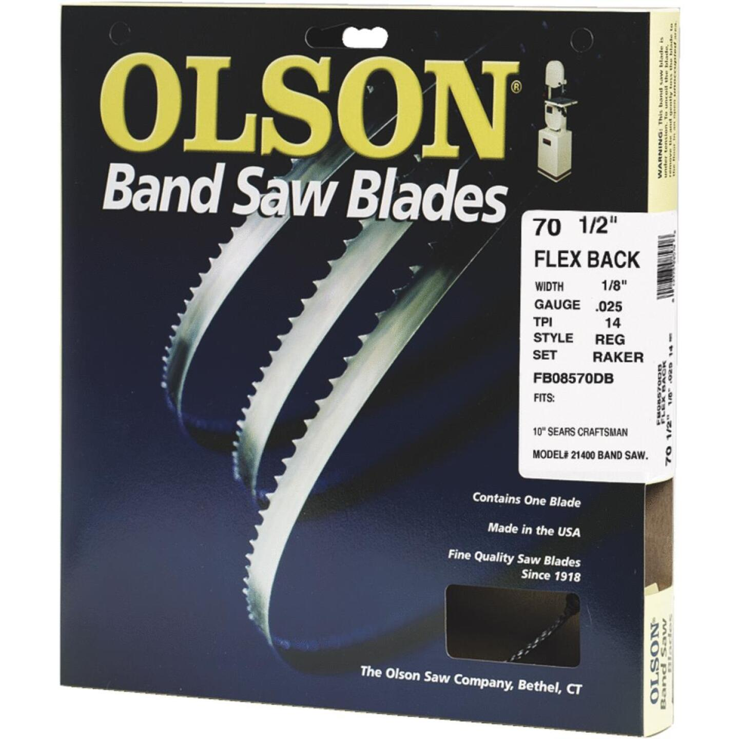 Olson 70-1/2 In. x 1/8 In. 14 TPI Regular Flex Back Band Saw Blade Image 1