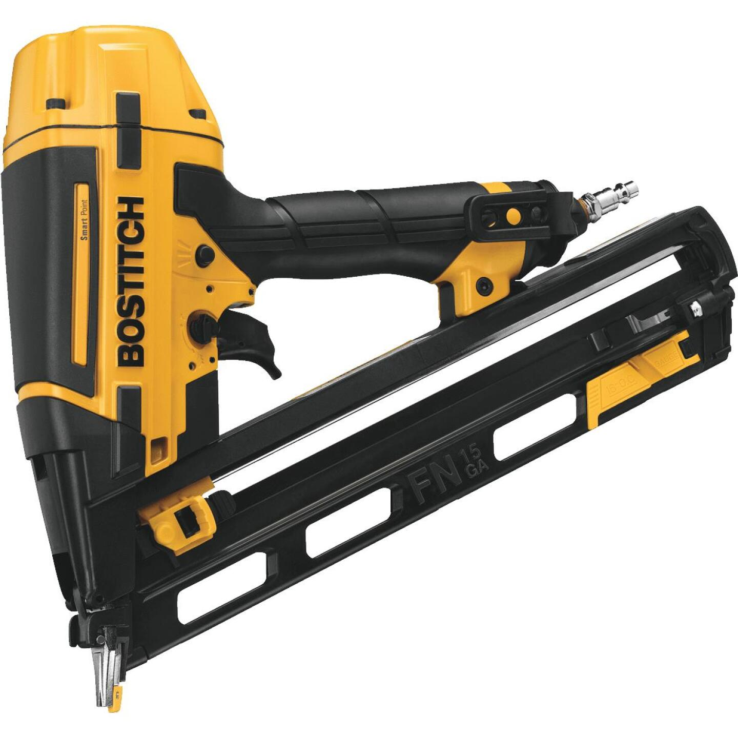 Bostitch Smart Point 15-Gauge 2-1/2 In. Angled Finish Nailer Kit Image 1