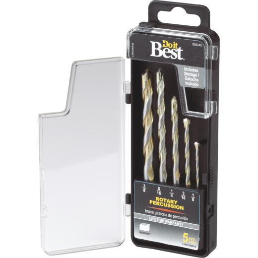 Do it Best Straight Rotary Hammer Drill Bit Set (5-Pieces)