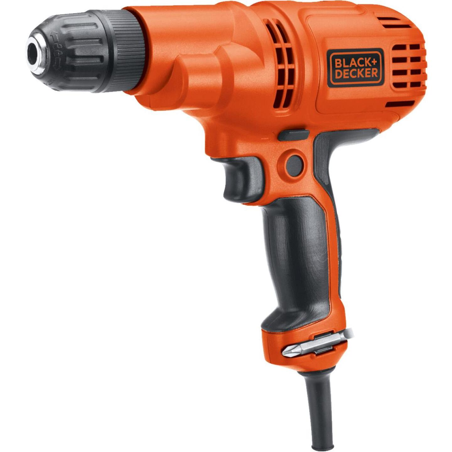 Black & Decker 3/8 In. 5.2-Amp Keyless Electric Drill/Driver Image 1