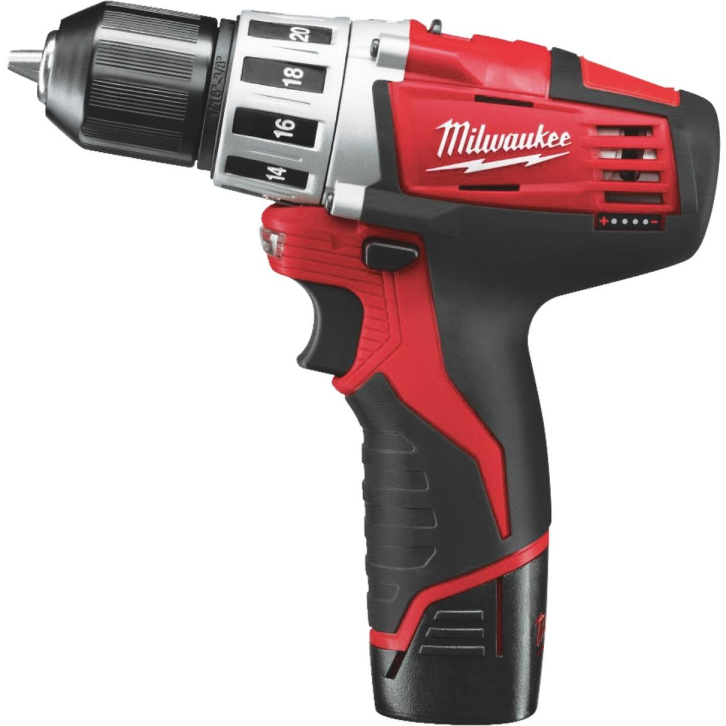 Milwaukee M12 12 Volt Lithium-Ion 3/8 In. Cordless Drill Kit Image 1