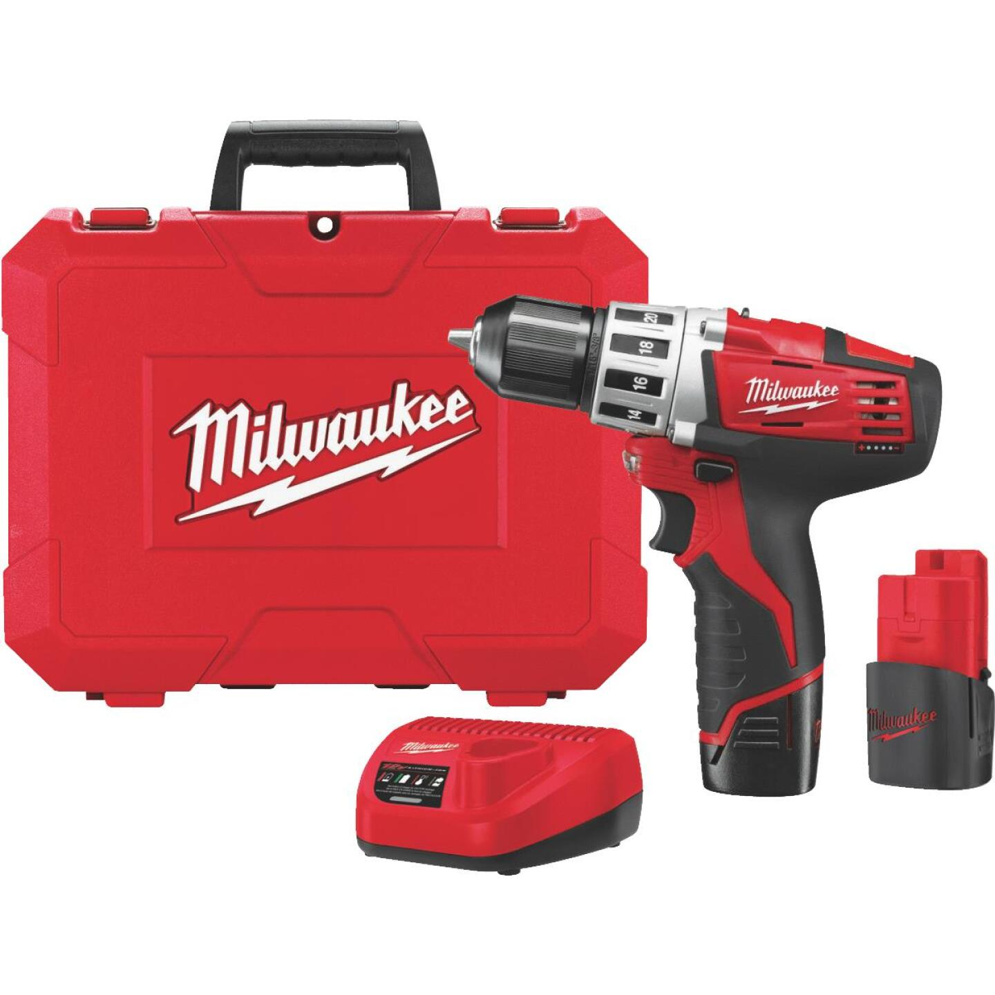 Milwaukee M12 12 Volt Lithium-Ion 3/8 In. Cordless Drill Kit Image 2