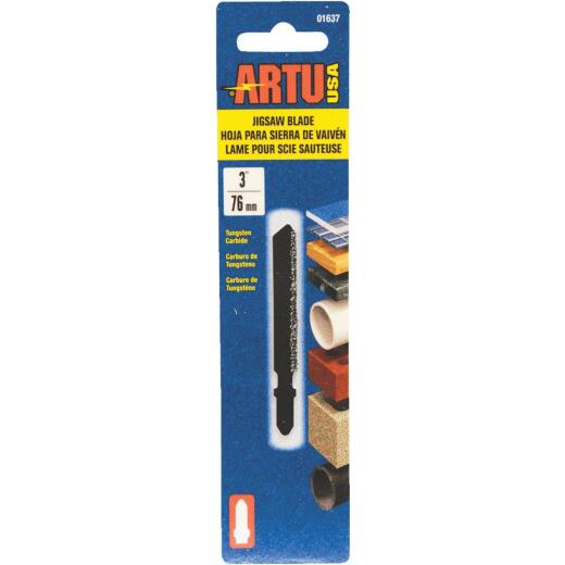 ARTU T-Shank 3 In. Carbide Grit Edge Jig Saw Blade