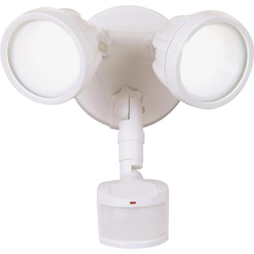 All-Pro White Motion Sensing Dusk To Dawn LED Floodlight Fixture