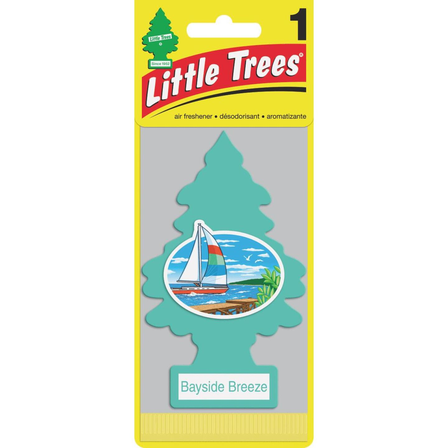 Little Trees Car Air Freshener, Bayside Breeze Image 1