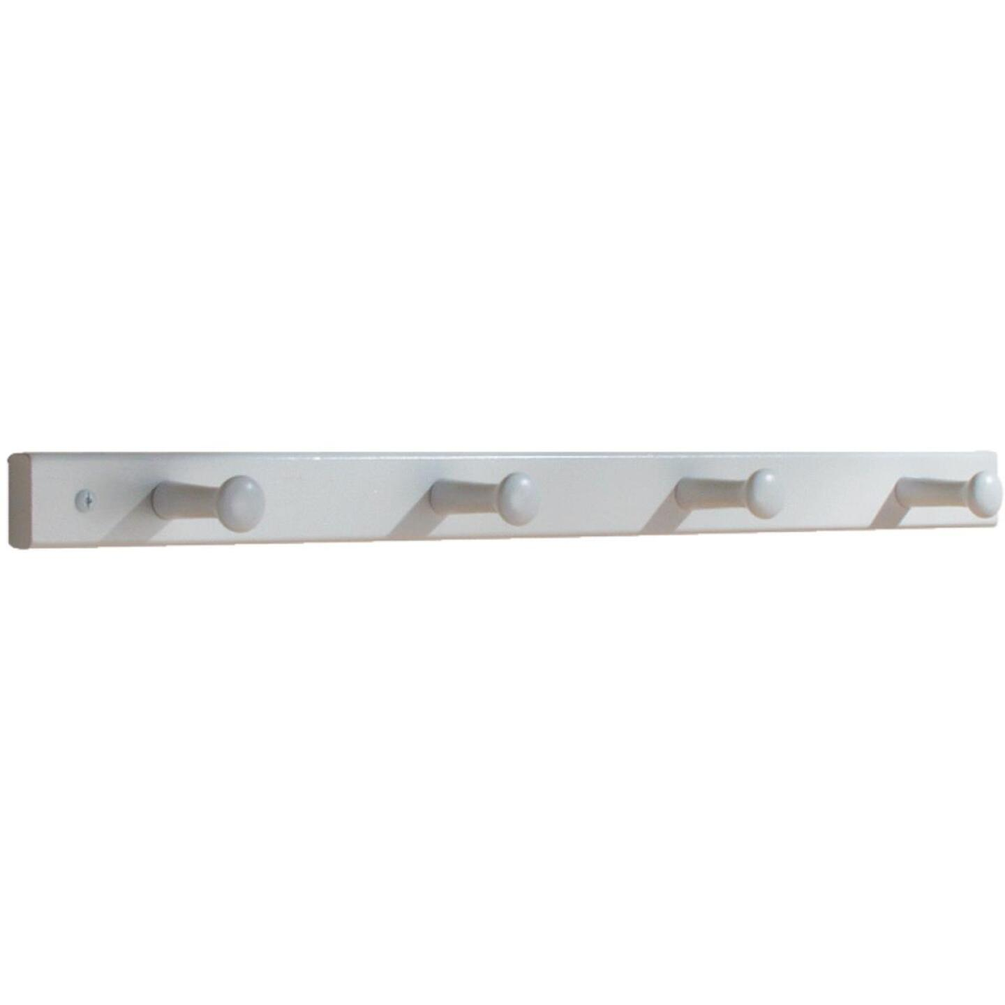 Interdesign White Wood 4-Peg Rack Image 1