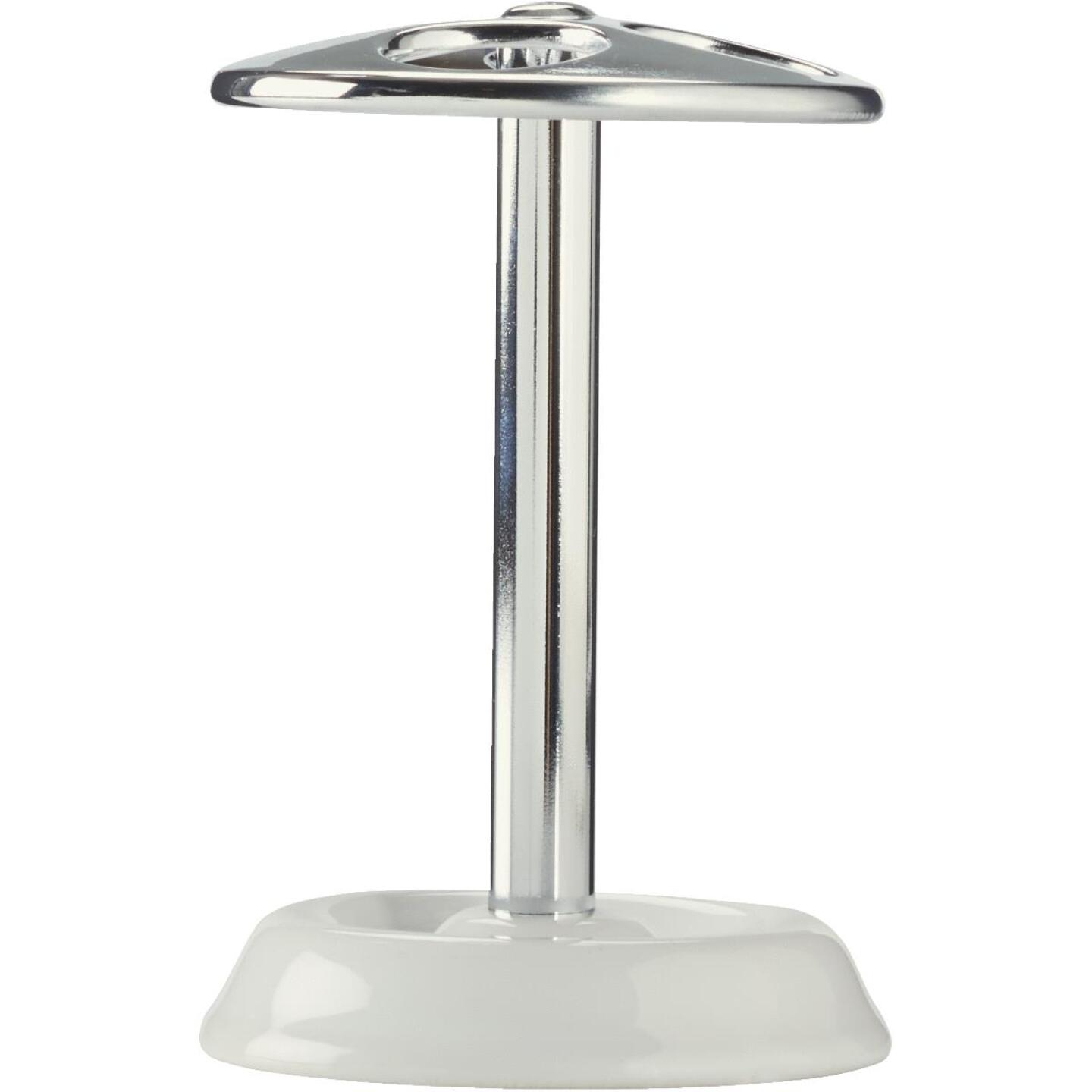 InterDesign White/Chrome Toothbrush Holder Image 2