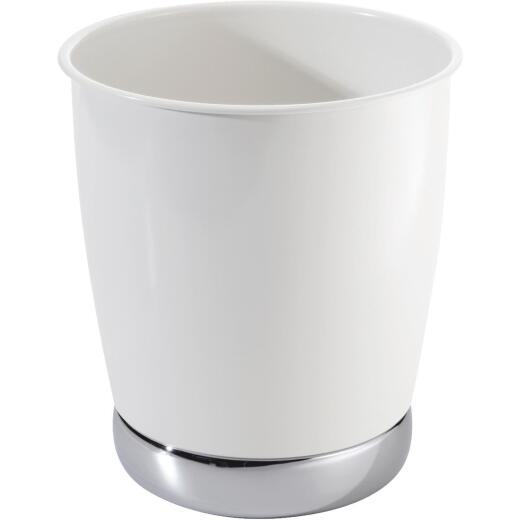Gia York 2.38 Gal. White Wastebasket