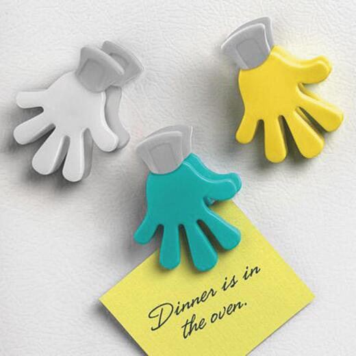Spectrum Handi Hand- Shape Magnetic Clips (3-Pack)