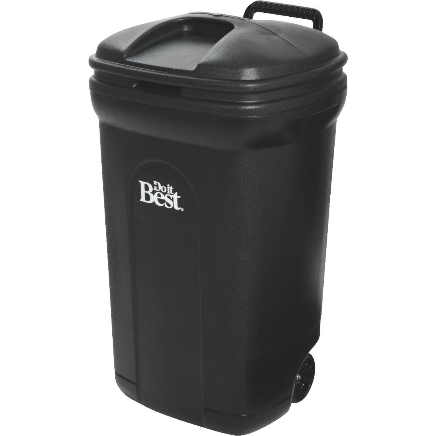 Do it Best 34 Gal. Black Wheeled Trash Can with Lid Image 2