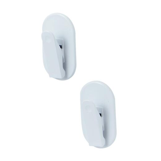 Spectrum White Magnetic Clip (2-Pack)