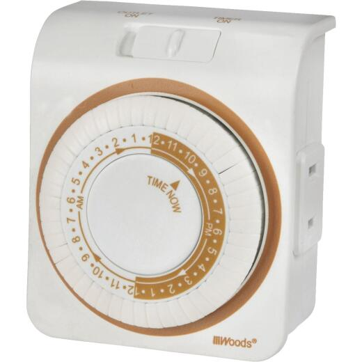 Woods 125V Indoor 24-Hour Mechanical Timer