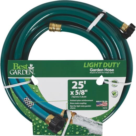 Best Garden 5/8 In. Dia. x 25 Ft. L. Light-Duty Garden Hose