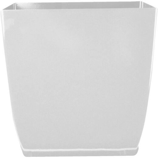 Myers Aria 8 In. Glossy White Square Planter