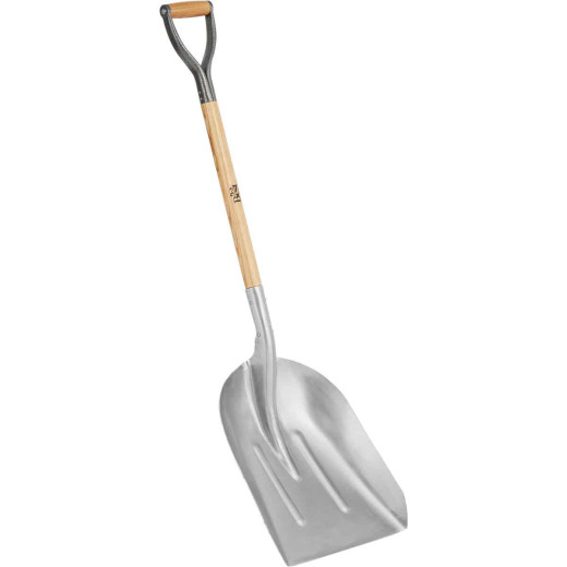 Do it Best 27 In. Wood D-Grip Handle #10 Aluminum Scoop Shovel