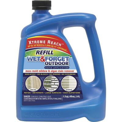 Wet & Forget 48 Oz. Hose End Refill Concentrate Moss, Mildew, Mold, & Algae Stain Remover