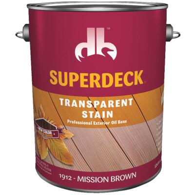 Duckback SUPERDECK Transparent Exterior Stain, Mission Brown, 1 Gal.