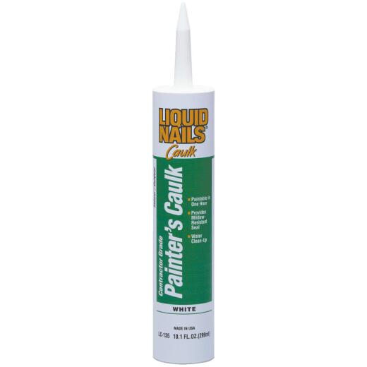 LIQUID NAILS 10.1 Oz, White Contractor Grade Painter's Acrylic Latex Caulk