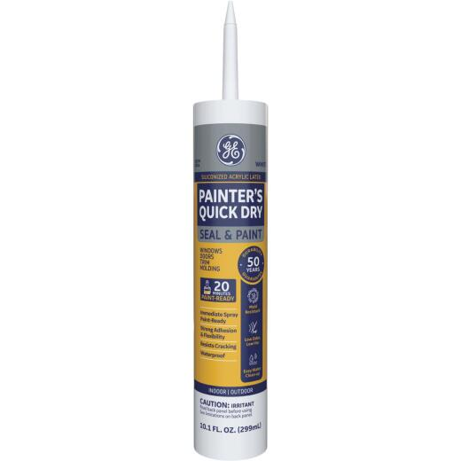 GE Painter's Quick Dry 10.1 Oz. White Siliconized Acrylic Latex Caulk