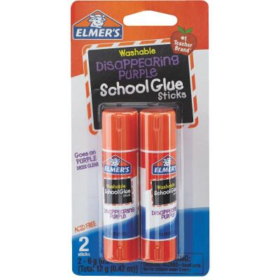 Elmer's 0.21 Oz. Clear Drying Washable School Glue Stick (2-Pack)